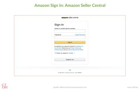 Amazon Seller Central Sign-In